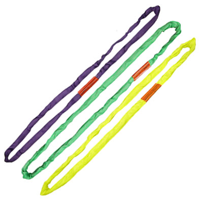 a purple, green and yellow roundsling
