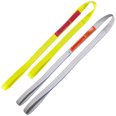 yellow & gray web sling